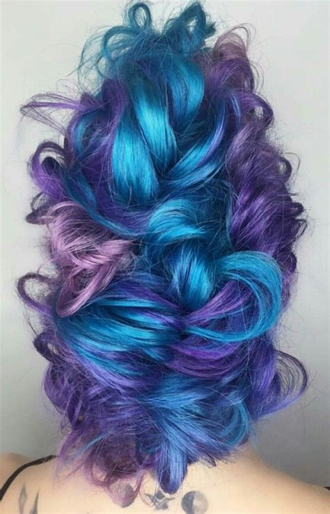 Blue Purple Dyed Hair Candicemarie702 Colorful Hair