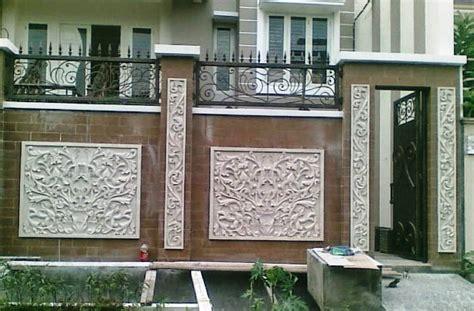 model pagar tembok rumah mewah minimalis   rumah