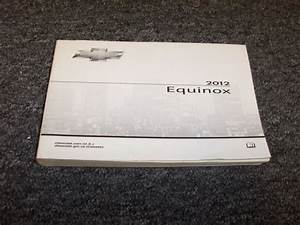 2012 Chevy Equinox Owner Operator User Guide Manual Ls 1lt