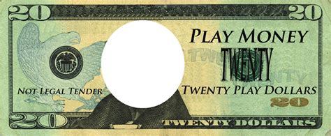 realistic play money templates  printable play money