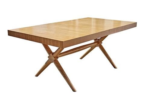 x base dining table quot x base quot dining table by t h robsjohn gibbings at 1stdibs
