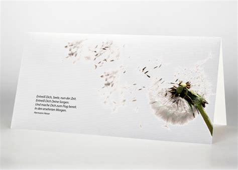 trauerkarten mit blumenmotiven den tod anzeigen