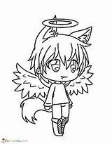 Gacha Coloring Pages Printable Anime Drawings Angel Character Unique Boys Characters Raskrasil Gatcha Drawing Kawaii Boy Sheets Devil Oc Halloween sketch template