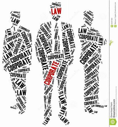 Law Corporate Areas Different Related Concept Illustration
