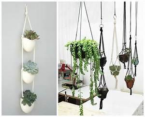Plantes à Suspendre : plantes d 39 int rieur d corez avec des plantes vertes ~ Premium-room.com Idées de Décoration