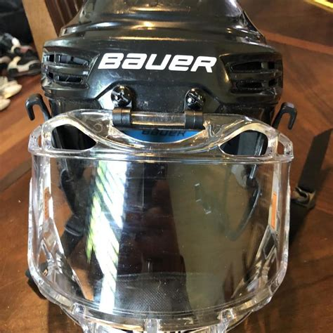 bauer prodigy youth helmet  clear cage hockey