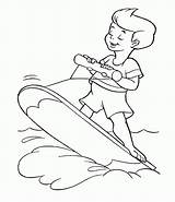 Coloring Surfing Pages Line Library Printable Books Clipart sketch template