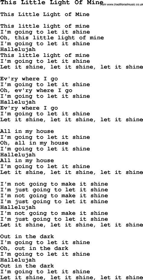 this light of mine lyrics this light of mine negro spiritual song