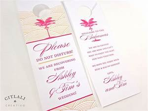 palm wedding door hangers for out of town guests do not With when to send wedding invitations for out of town guests