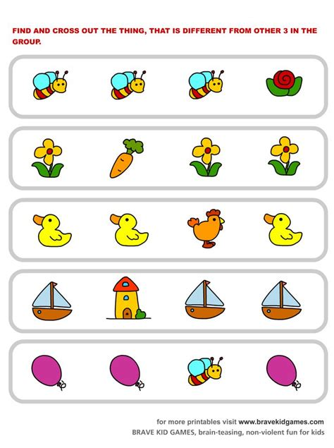 which one is different visual spatial relations 167 | 0b4b8e8c148a92c61656d60165c553af free printable worksheets preschool worksheets