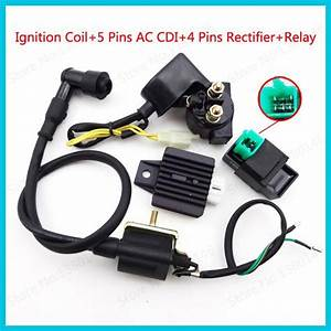 5 Pins Ac Cdi Ignition Coil 12v Start Relay 4 Pin Voltage