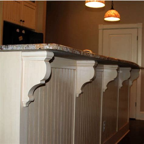 Wood Corbels For Granite Countertops by Wood Corbel Traditional Bar Bracket Kit In Unfinished