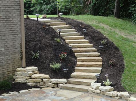 steps for landscaping a possibility for our quot landslide quot on the side of our house backyard beauty pinterest