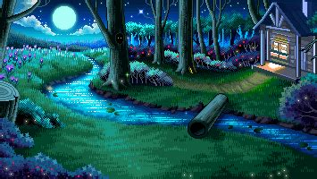 Video wallpapers are too extreme. meadow goodnight pixel art sprites fairies pixel gif ...