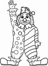 Clown Coloring Drawing Pages Printable Face Drawings Getdrawings sketch template