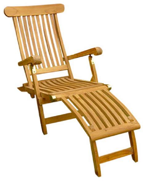 teak steamer chair traditional outdoor chaise lounges