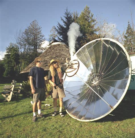diy solar hack     parabolic solar cooker