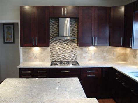 kitchen tiles designs pictures cherry kitchen cabinets with gray wall and quartz 6298