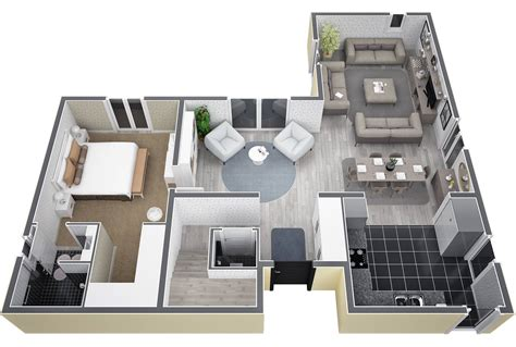 cuisine et salon villa dite en l à étage de 130m au rdc entrée avec