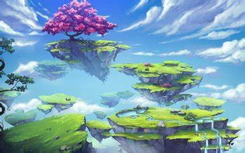floating island hd wallpapers background images
