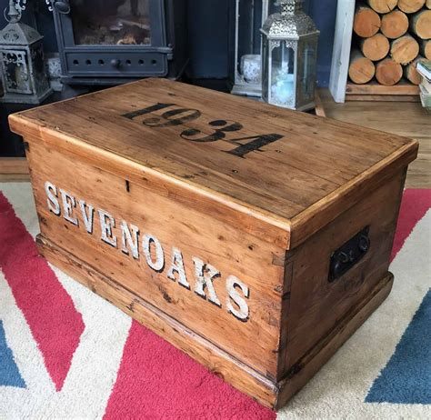 A storage coffee table with drawers or shelves can come in handy. SEVENOAKS Chest COFFEE TABLE Old Pine Blanket Box Storage Trunk Free UK Delivery | Dovetails Vintage
