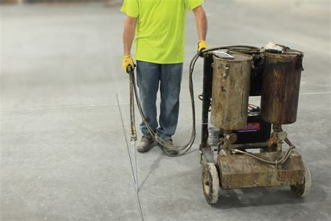 Filling Control Joints in Concrete Slabs  Concrete