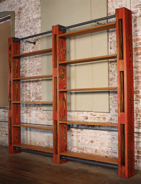 Vintage Industrial Bookcase by Getbackinc Shelving Bookcase System Vintage Industrial 2
