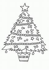 Coloring Christmas Tree Pages Printable Xmas Print Drawing Adorable Children Sketch Pencil Craft Pine Pitara Claus Prints Santa Line Getdrawings sketch template
