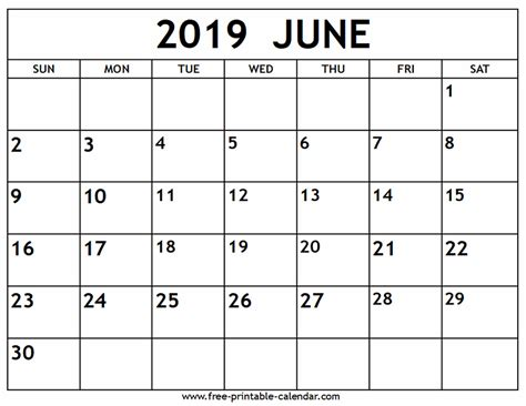 june calendar printable calendarcom