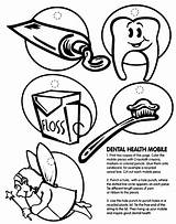 Coloring Dental Pages Health Teeth Hygiene Personal Printable Dentist Mobile Print Drawing Oral Tooth Month Sheets Healthy Crayola Printables Preschool sketch template