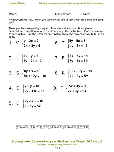 linear equations in two variables worksheet worksheets for