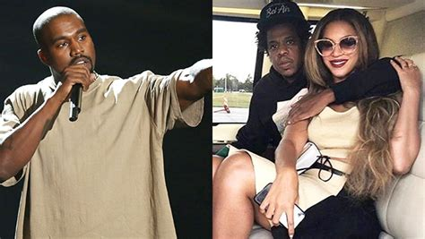 kanye west calls jay  beyonce family  instagram   beef hollywood life