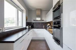 minimalist enclosed kitchen ideas kitchen modern with all With cuisine blanche et grise