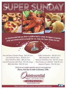 Let us help with your big game party! Quintessential