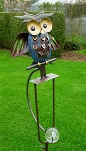 Windspiel Garten Metall : windspiel wippe gartenstecker freche eule garten vogel ~ Lizthompson.info Haus und Dekorationen
