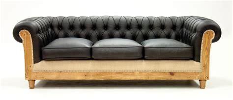 canapé chesterfield cuir noir canapé chesterfield déstructuré cuir noir les nouveaux