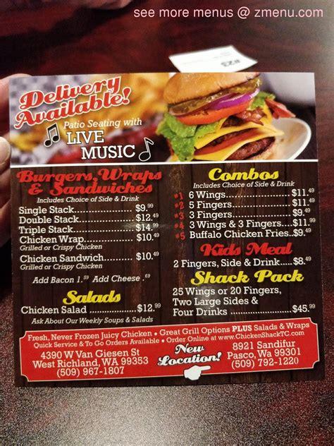 Online Menu of The Chicken Shack Restaurant, Pasco ...