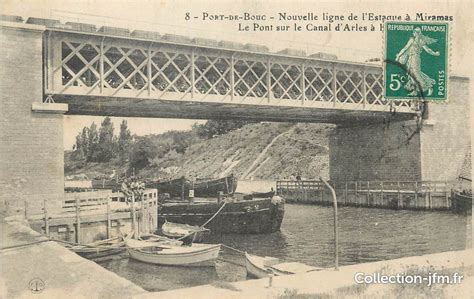 port de bouc marseille cpa 13 quot port de bouc nouvelle ligne de l estaque 224 miramas le pont sur la canal d
