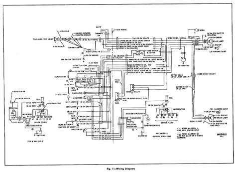 Chevrolet Electrical Diagram by Electrical Wiring Diagram For The 1954 Chevrolet Truck