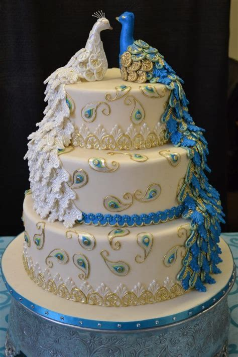 17 Best Ideas About Peacock Wedding Cake On Pinterest