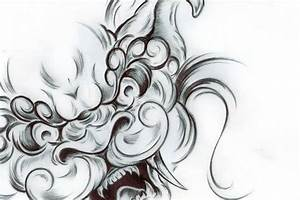 Karajishi Botan Foo Dog Tattoo Design By Deutschland2