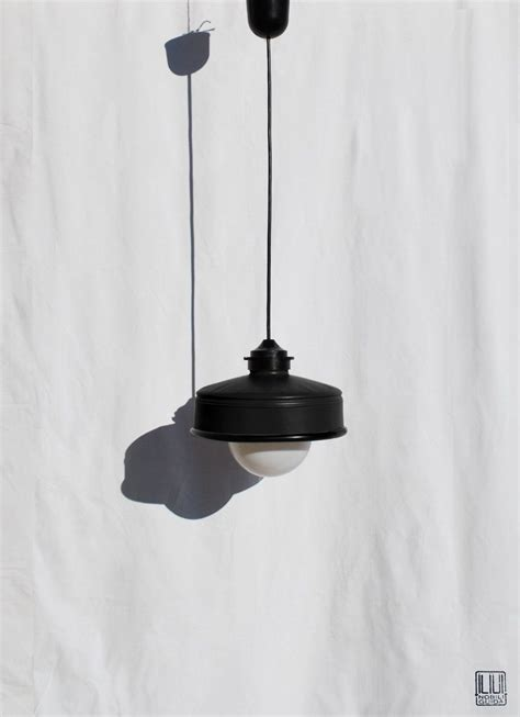 Dark walls plus dark curtains equals a movie theater effect, which can feel oppressive. Hanging / pendant / ceiling lamp mat black ... eco friendly & handmade : recycled from coffee ...