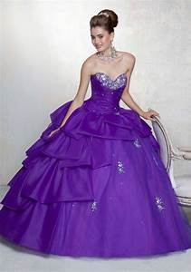 purple quinceanera dresses dressed up girl With robe quinceanera