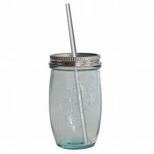 Bocal Avec Paille : bocal avec paille en verre recycl vidrios san miguel ~ Teatrodelosmanantiales.com Idées de Décoration