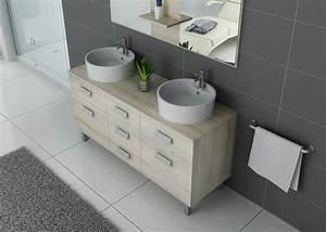 Meuble Vasque Sur Pied : meuble de salle de bain 2 vasques sur pieds meuble 2 vasques noir sur pieds ~ Teatrodelosmanantiales.com Idées de Décoration