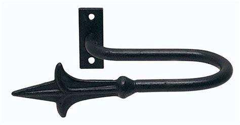 artisan classic wrought iron regular holdbacks spear