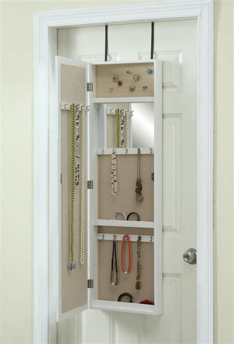 the door mirrored jewelry armoire the door jewelry armoire with mirror hives and honey