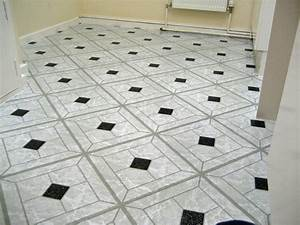 18 best black and white vinyl floor tiles interior for Plastic floor carpet designs