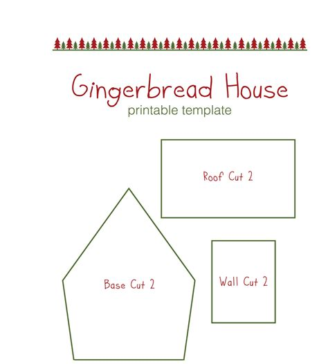 Gingerbread House Template Gingerbread House Templates For Free Temploola