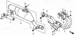 Honda Motorcycle 1985 Oem Parts Diagram For Exhaust